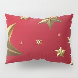 Season's Greetings - Stars (Red) Pillow Sham