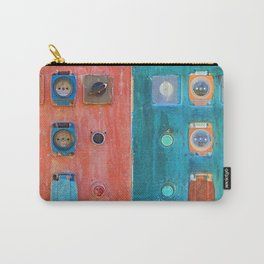 switch and plug on an electrical panel Carry-All Pouch