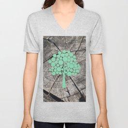Last tree (designer) Unisex V-Neck