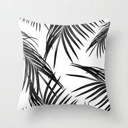 Black Palm Leaves Dream #1 #tropical #decor #art #society6 Throw Pillow