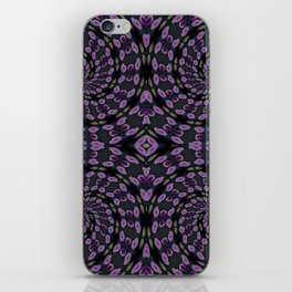 Purple Twirl Pattern iPhone Skin
