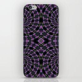 Purple Twirl Pattern iPhone Skin