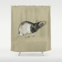 rat Shower Curtains featuring Rat by Freeminds
