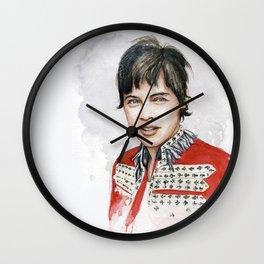 H Watercolors V Wall Clock