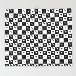 Hate in Black and White Throw Blanket