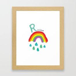 R is for Rainbow Framed Art Print