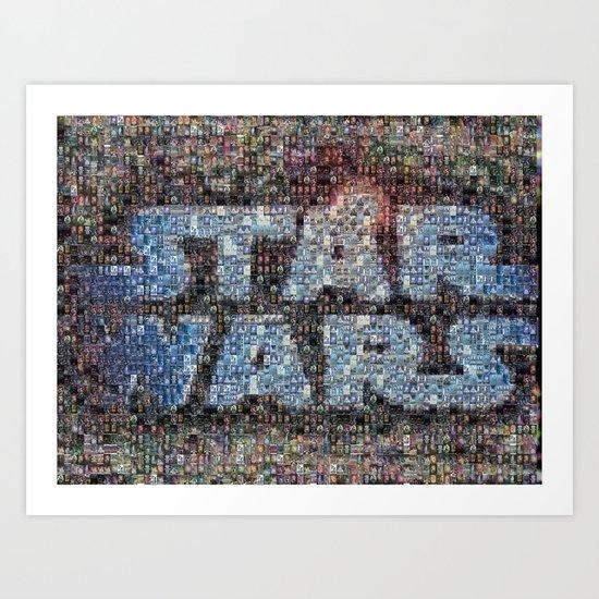 Star Wars Posters Mosaic Art Print
