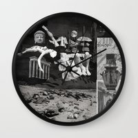 tape Wall Clocks featuring Tape by Young Weirdos Guild