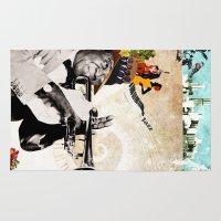 jazz Area & Throw Rugs featuring Jazz  by Design4u Studio