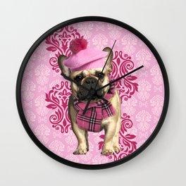 Dog Chic Wall Clock