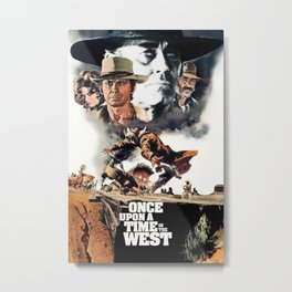 1968 Once Upon a Time in the West - Movie Film Poster Print Metal Print