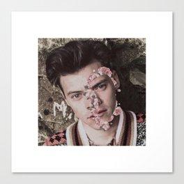Harry Styles Flower Face Canvas Print