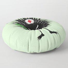 Evil Bug Nurse With Syringe Floor Pillow
