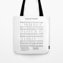 Hymn - O Come All Ye Faithful Tote Bag