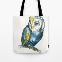 Teal Barn Owl Tote Bag