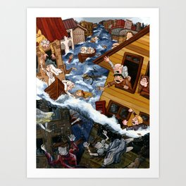 The Johnstown Flood Art Print