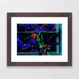Bunch in black (watercolor) Framed Art Print