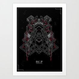 InkUp - Intrecci Art Print