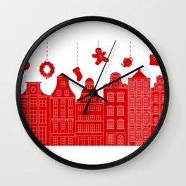 Very Merry Christmas Street Wall Clock