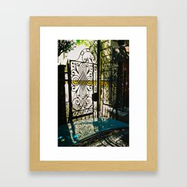 Vintage gate Framed Art Print