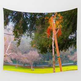 Green pastures and trees photo Wall Tapestry
