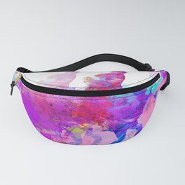 poloplayer abstract redblue Fanny Pack