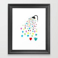 Love shower Framed Art Print