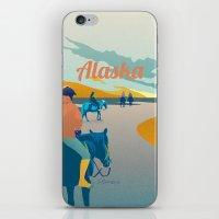 alaska iPhone & iPod Skins featuring Alaska by Shirong Gao