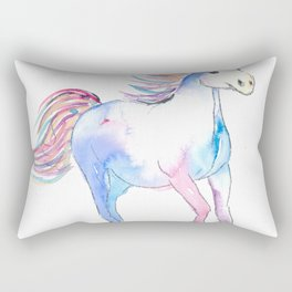 The Colorful Running Horse Rectangular Pillow