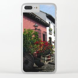 Flower Wagon, Antigua, Guatemala Clear iPhone Case