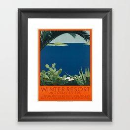 Vintage poster - Yugoslavia Framed Art Print
