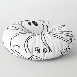 Reggie the Love Squid by Angela Lutz Floor Pillow
