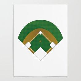 Baseball Illustration Poster