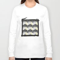 herringbone Long Sleeve T-shirts featuring Herringbone#1 by ArtLoveHope