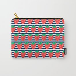 Strawberry Stripes Carry-All Pouch