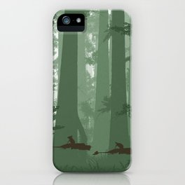 The Battle of Endor - The Tortoise & the Hare iPhone Case