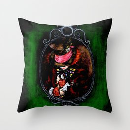 Alice in Wonderland Mad Hatter Throw Pillow
