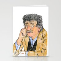 vonnegut Stationery Cards featuring Vonnegut by McHank