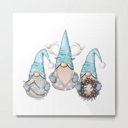 Nordic Gnomes Metal Print
