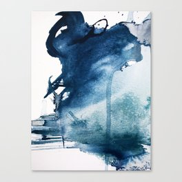 Pacific Grove: a pretty minimal abstract piece in blue by Alyssa Hamilton Art Canvas Print