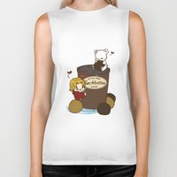 hetalia Biker Tanks featuring Hetalia - Canada Loves Timmies  by BlacksSideshow