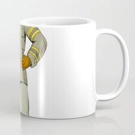 American Firefighter Fire Axe Drawing Coffee Mug