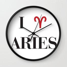 I heart Aries Wall Clock