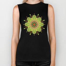 Mandala fleur, vert Biker Tank