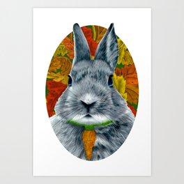 Fluffy Bunny Art Print