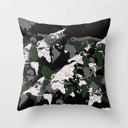 World Camo Throw Pillow