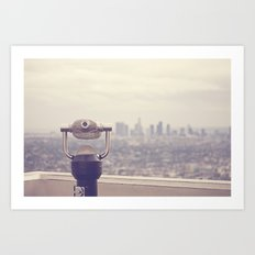 The View: Los Angeles Art Print