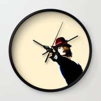 agent carter Wall Clocks featuring Agent Carter by Ms. Givens