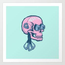 Rock On Skull Art Print