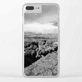 Þingvellir Clouds Clear iPhone Case